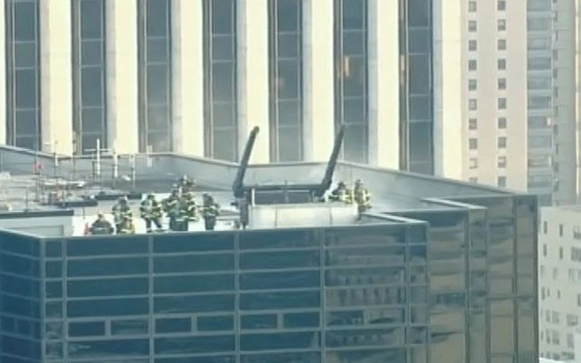 Fire on top floor of Trump Tower in New York