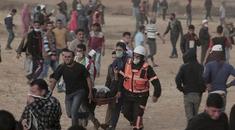 Israeli fire in new Gaza border protest kills four Palestinians