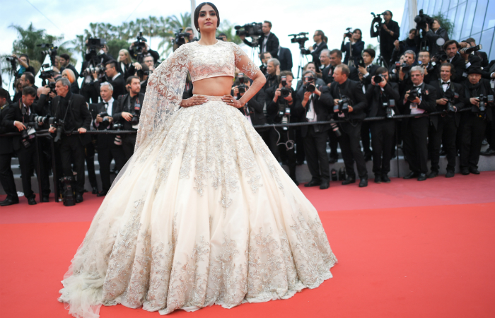 Cannes 2018: Sonam Kapoor is a vision in a custom Ralph And Russo lehenga for her first red carpet appearance as a married woman
