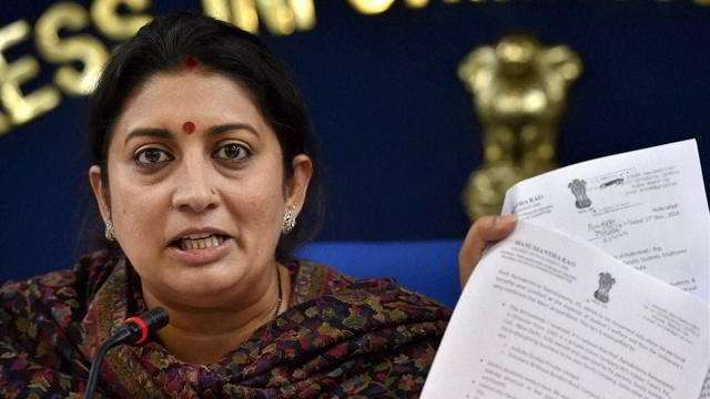 Chargesheet filed against 4 DU students for 'stalking' Smriti Irani