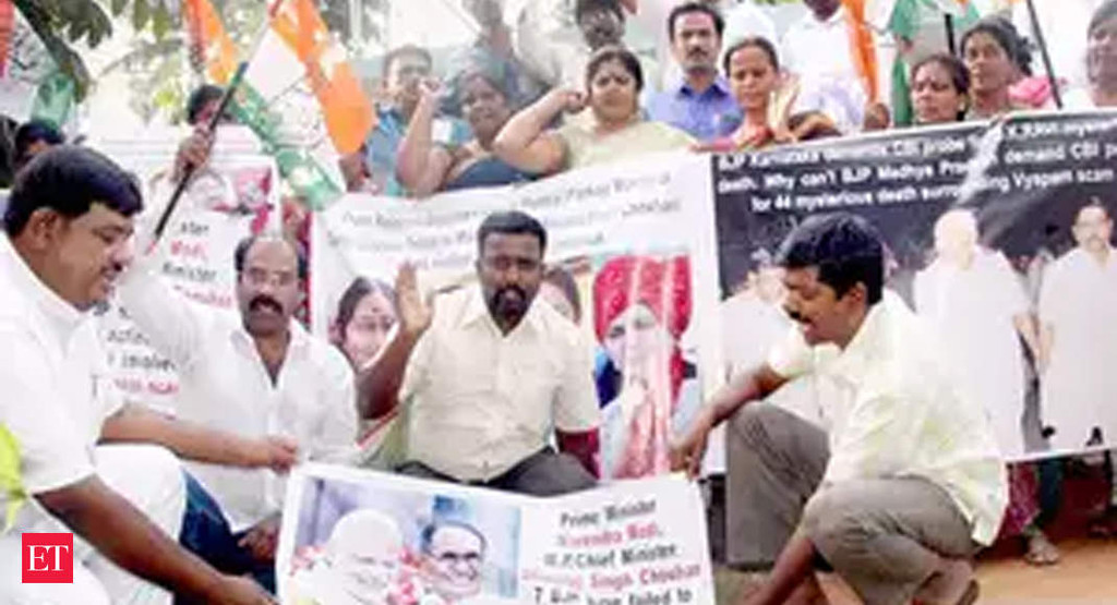 Vyapam case: Court orders FIR against senior Congress leaders