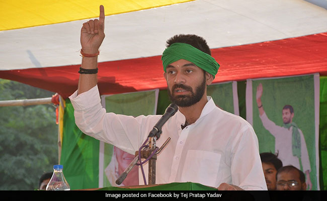 "Tej Pratap Yadav Wants No Entry Board For ""Uncle Nitish"" At House"