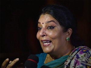 Congress protests in RS against PM's remark on Renuka Chowdhury
