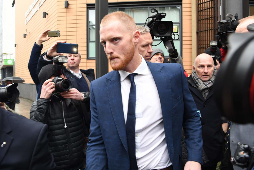 Stokes pleads not guilty to affray