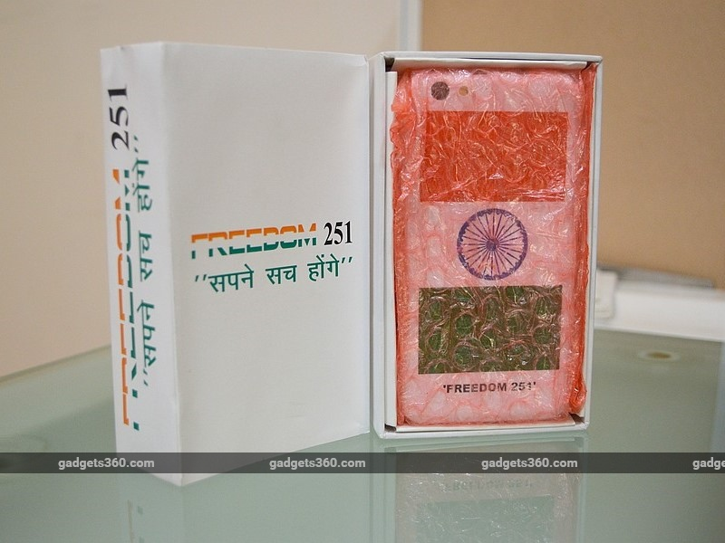 "'Freedom 251' Maker Still Upbeat On Delivering ""World's Cheapest"" Handset"