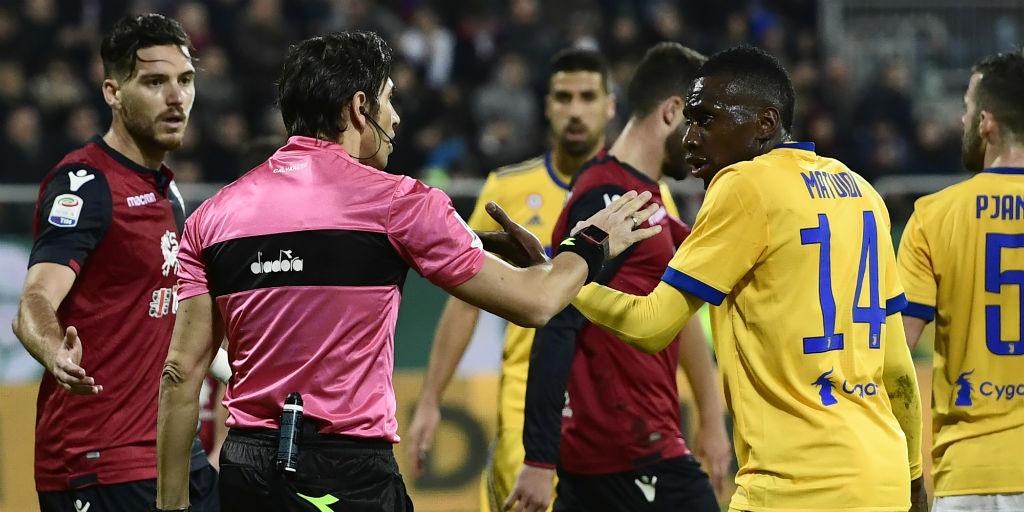 Serie A: Juventus midfielder Blaise Matuidi subjected to racial abuse during Cagliari clash