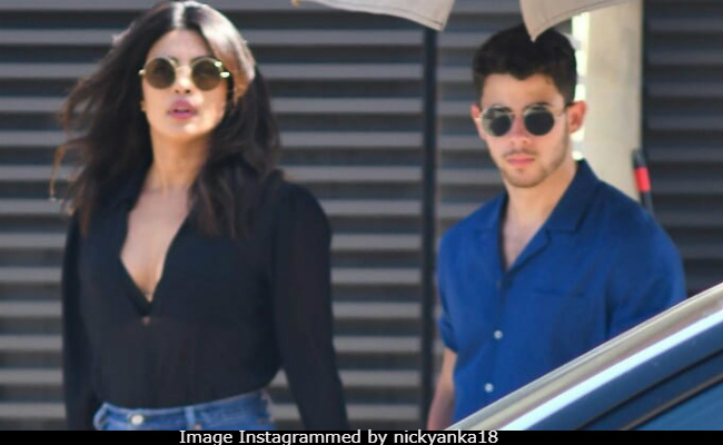 Image result for latest images of Soon-to-be-married couple Priyanka Chopra and Nick Jonas catch up for brunch