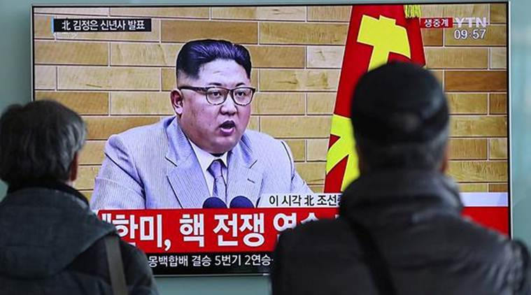 North Korean leader Kim Jong Un says nuclear launch button on his desk