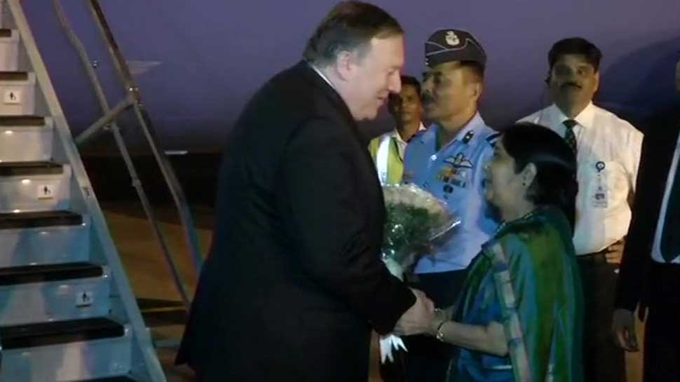 US Secretary of State Mike Pompeo, Defence Secretary Jim Mattis arrive for 2+2 talks with India